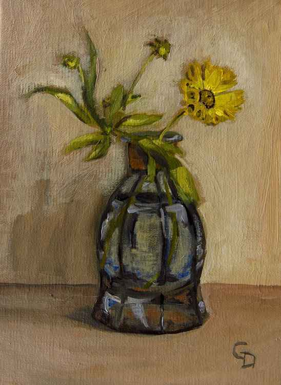 Coreopsis in Perfume Bottle