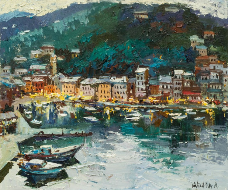 Oil painting Italy landscape painting - Image 0