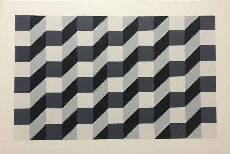 Original Geometric Canvas Painting - Image 0