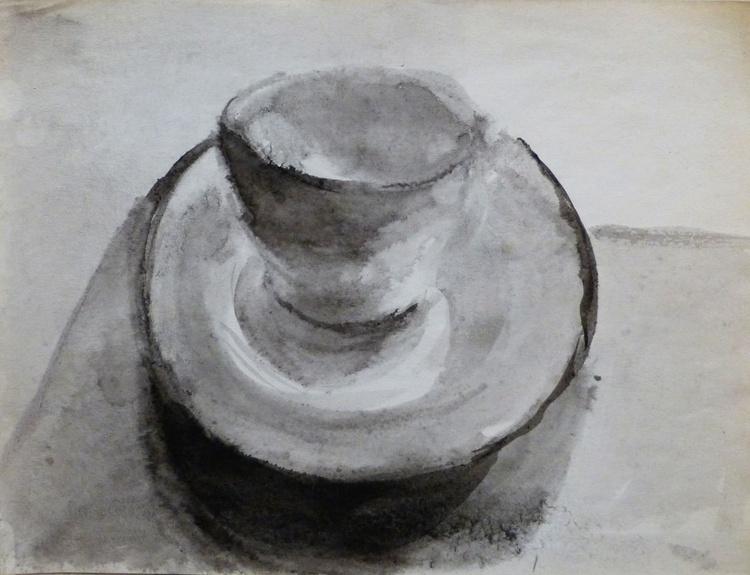 Tea Cup and Saucer #1, 31x24 cm - Image 0