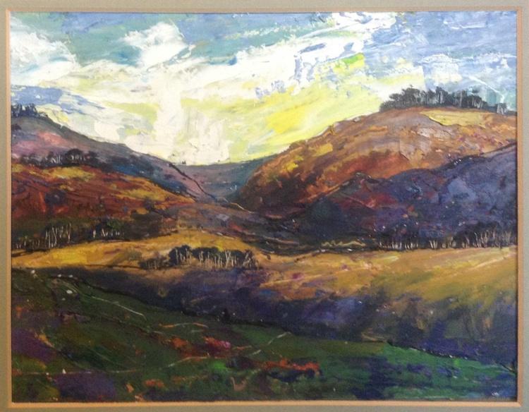 Peak District Autumn (framed original) - Image 0