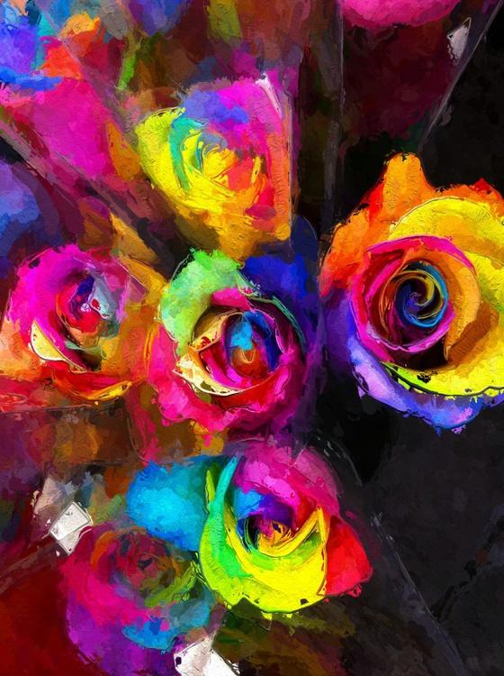 Colourific Rose Bouquet 2 - Image 0
