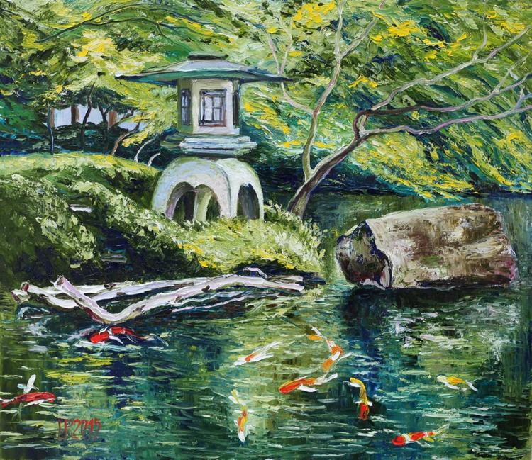 Japanese garden. Koi - Image 0