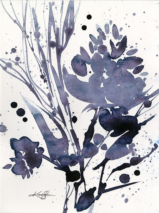 Organic Impressions No. 112 - Flower Watercolor Painting - Image 0
