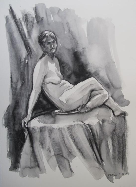 seated female nudes - Image 0