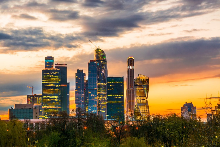 Sunset in Moscow City. - Image 0