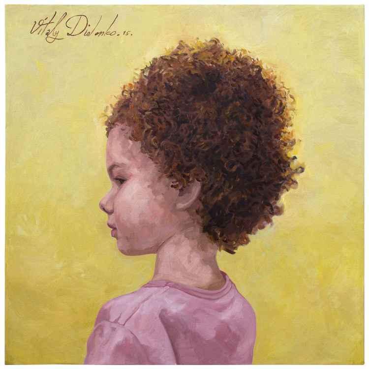 Little Miss Campfire  (80x80cm) - commissioned portrait