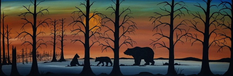 Black bear with cubs - Image 0