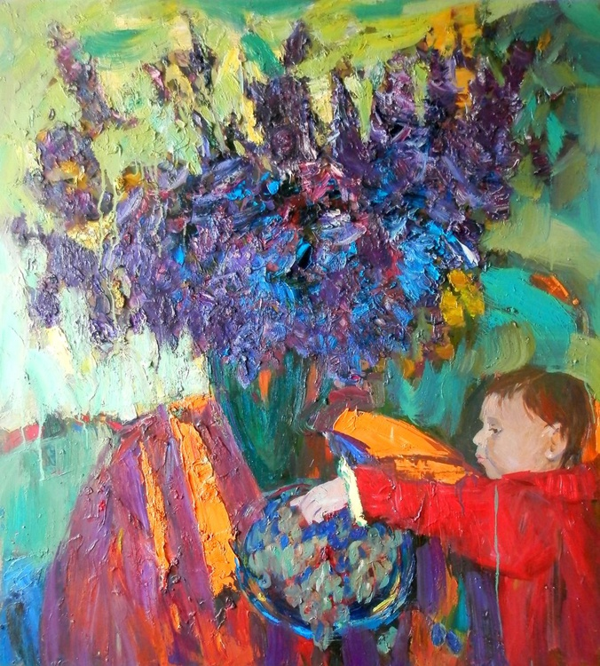 Kate. Lilac, 92x100 cm - Image 0