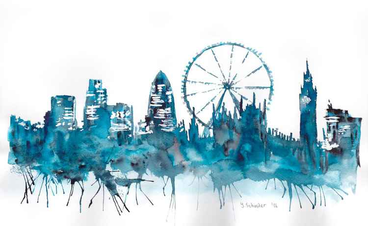 London skyline. v1