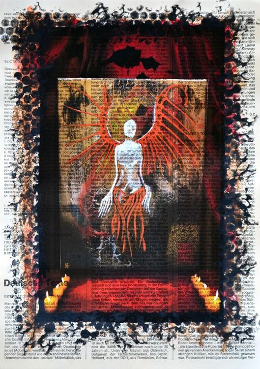 Surreal Angel On Vintage Paper Collage - Image 0