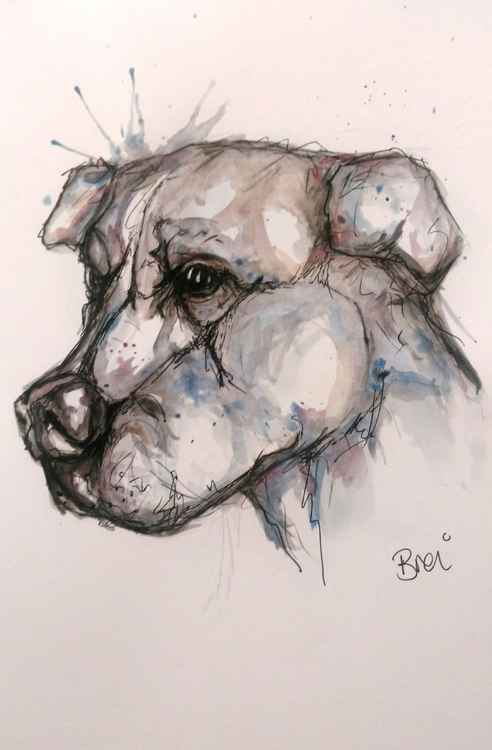 Staffordshire Dog Doodle Caricature: -