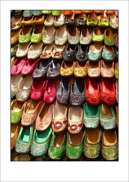 Market Shoes, Anjuna, Goa, India - Image 0