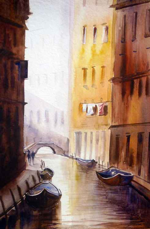 Venice  Canal at Morning -
