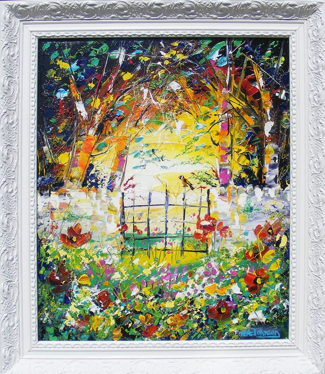 "Framed Art - ""The Goldfinch and the sunshine"" - Image 0"