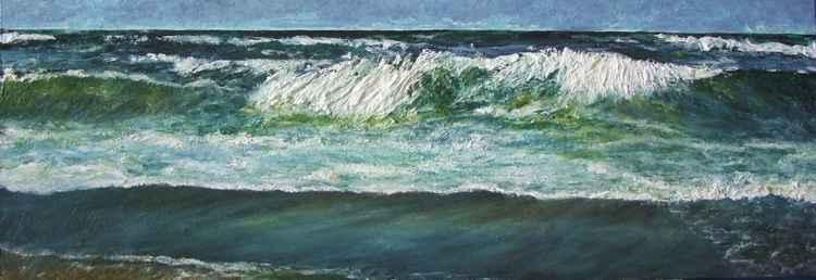 Waves and dark sand