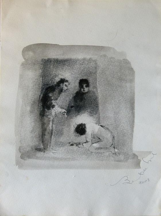 Supplication, 24x32 cm - Image 0