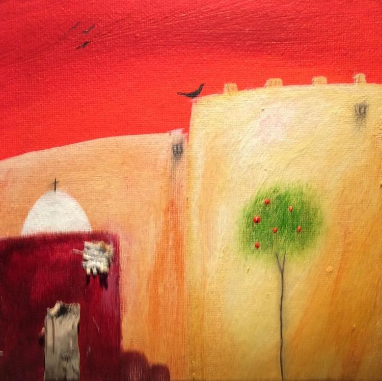 """ Mediterranean sunset "" ( miniature size) - Image 0"