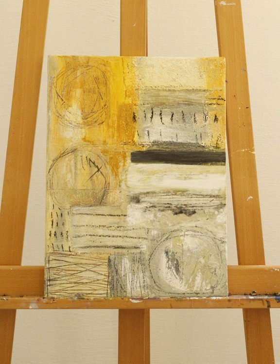 Abstract Landscape - Original mixed media painting on canvas - Image 0