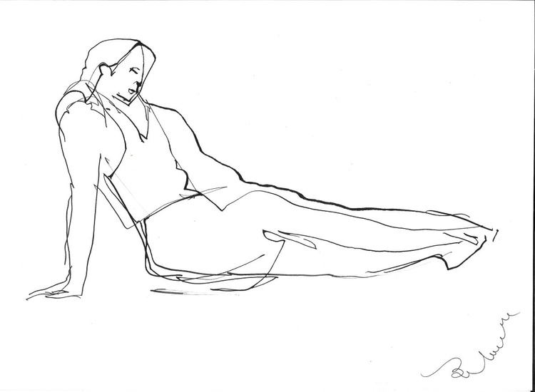 Reclining model, 21x29 cm - Image 0
