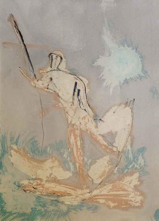 Prolegomena #87 , Acrylic on paper 29x42 cm