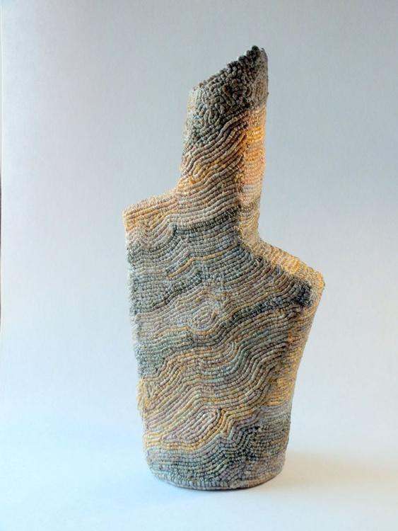 Textile Vessel-          42cm x 18cm - Image 0