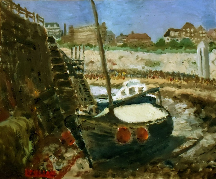 Boats at Broadstairs, Kent - An Original Oil painting on board. - Image 0