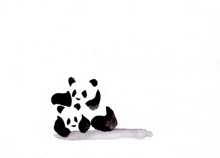 Two pandas 1521C