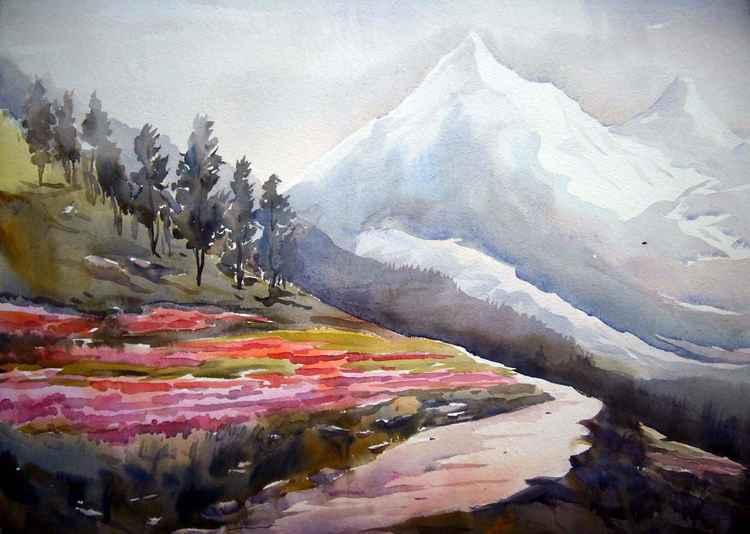 Himalayan Mountain Peaks & Flower Gardens -