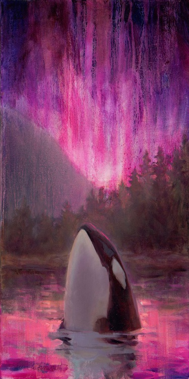 Aurora Orca - Vivid Northern Lights and Killer Whale - Image 0