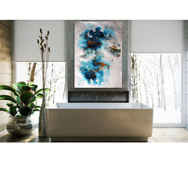 Blue feelings III / 76 cm x 56 cm - Image 0