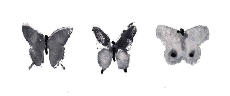 Three Butterflies 219BW2