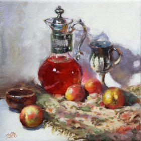"Tiny Still Life 6"" x 6"" by H. Momo Zhou"