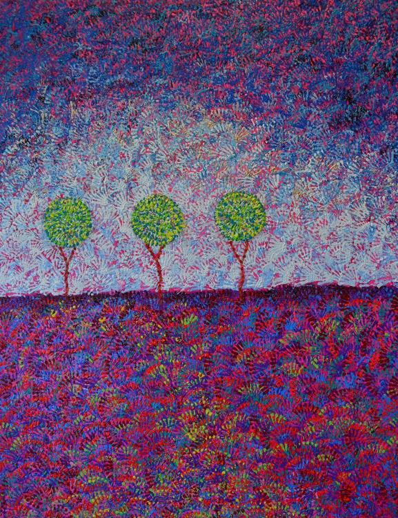 Pointillism - Trees on the Horizon - Image 0