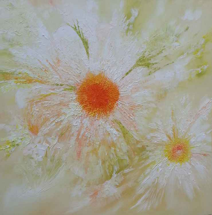 Spring Daisies (large canvas) -