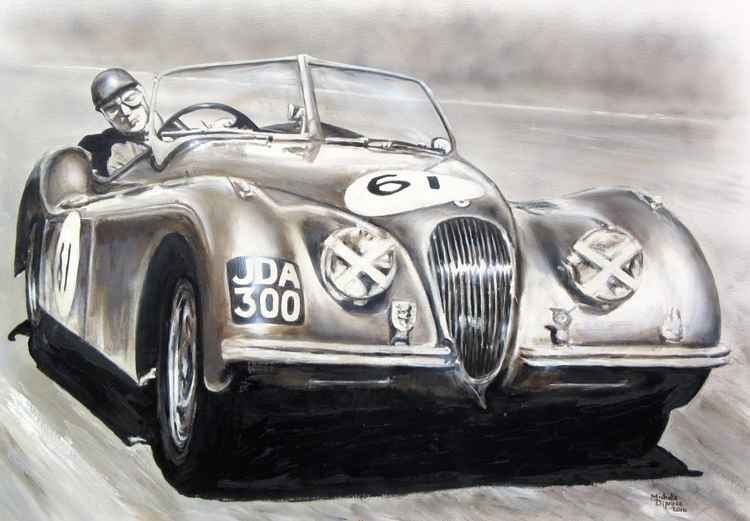 Jaguar XK120 racing