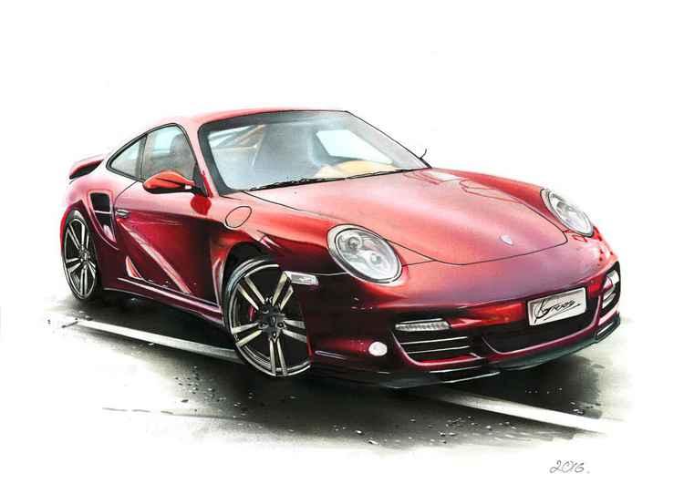 Porsche 911 Turbo Illustratiom -
