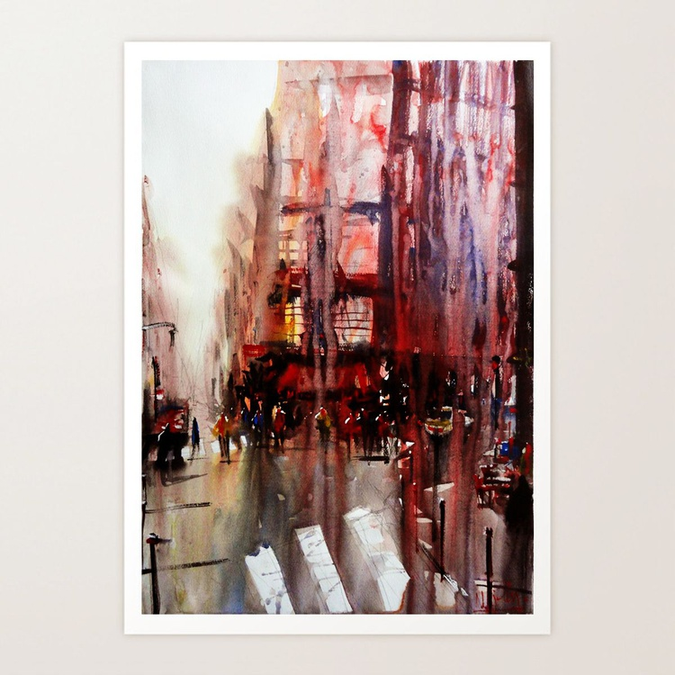 Watercolor - Paris atmospheric #3 - Image 0