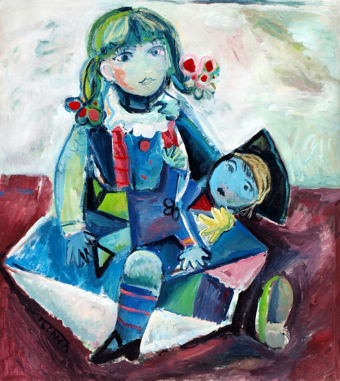 Dolls (a Post Picasso comment) 42.1 x 37.8 in - Image 0