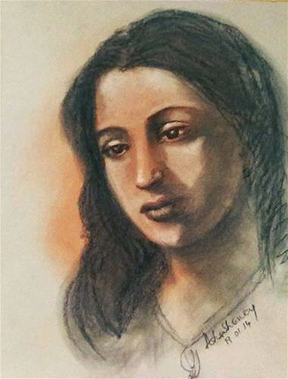 "Suchitra Sen-The Ethereal Indian Beauty 9""x12"" - Image 0"