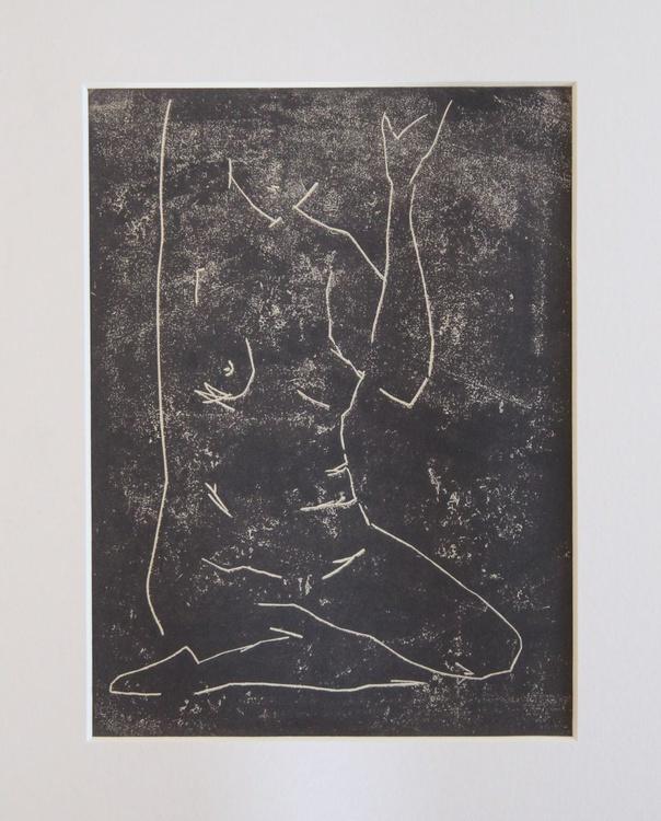 Nude 2 - Life drawing lino - Image 0