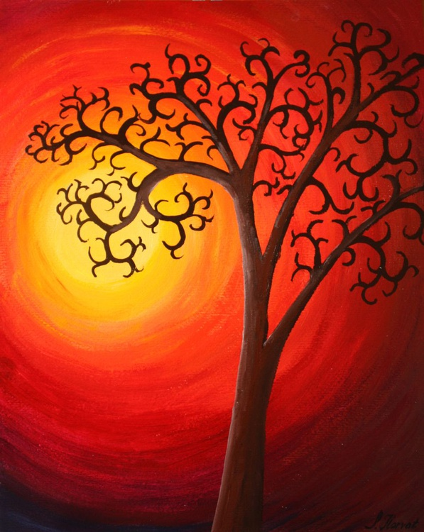 """Tree of life"" - 40x50cm - Image 0"