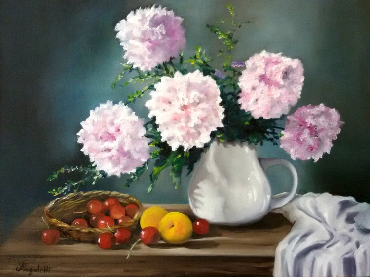 Still life with peonies - Image 0