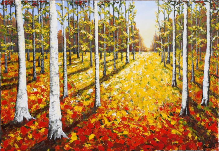 SOLD Autumn in The Forest - Image 0