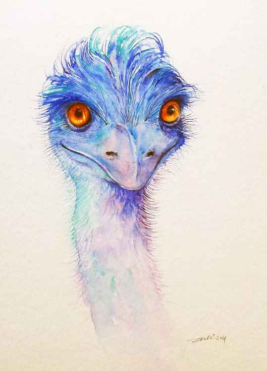 Emu In Blue -