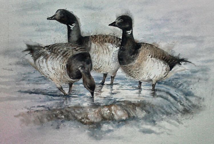 Three geese - Image 0