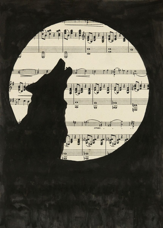 Wolf and Moon - Image 0