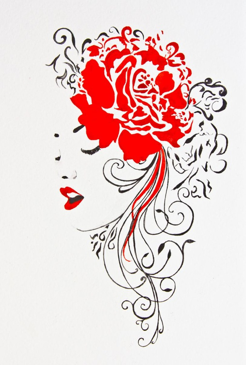 Lady red rose - Image 0