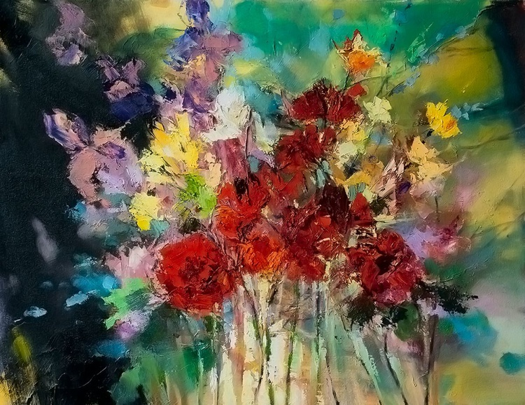 'Bouquet of Red Flowers ' - Image 0