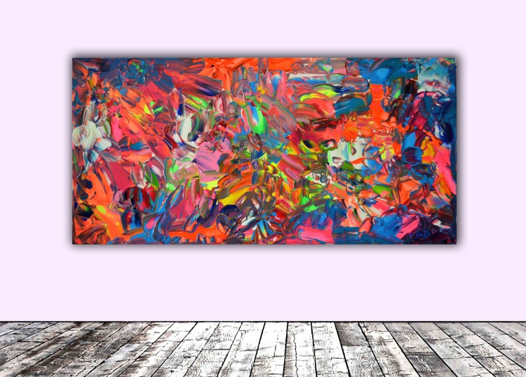 Phosphorus Dischromy nr. 2 - 100x50 cm - Large Painting - Ready to Hang, Office, Hotel Wall Decor - Image 0